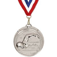 Target50 Swimming Medal with RWB</br>AM992R.02